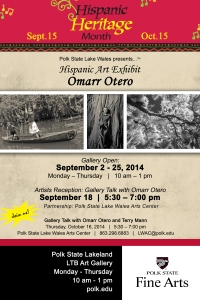 Hispanic Heritage Month Lklnd Gallery flyer